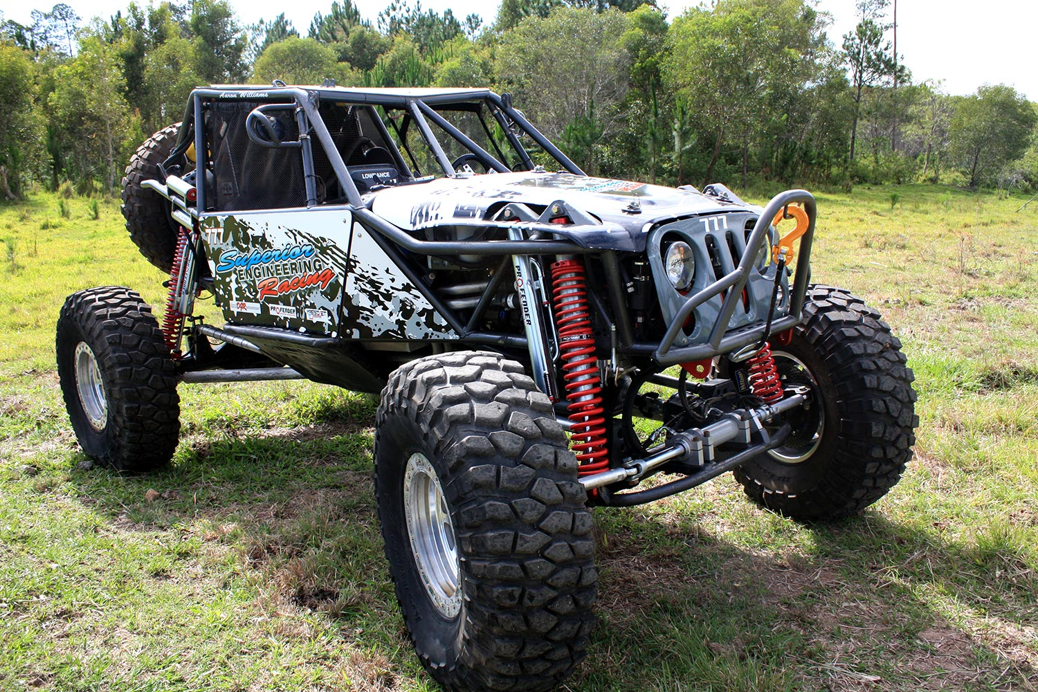 Front view of ultra4 race buggy