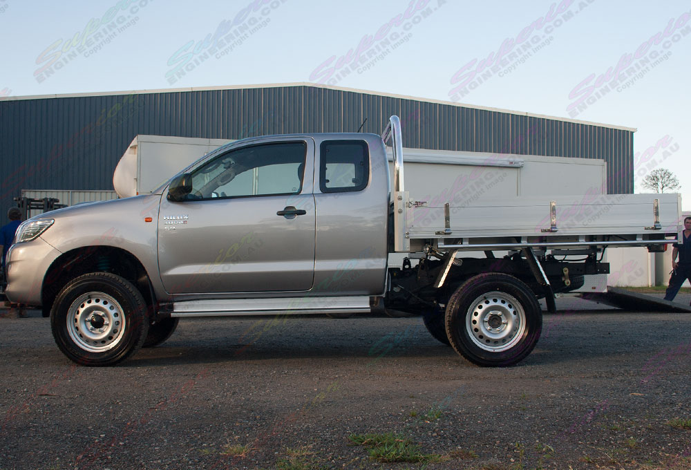 Toyota Hilux fitted with 2 Inch Profender Monotube Remote Res lift kit