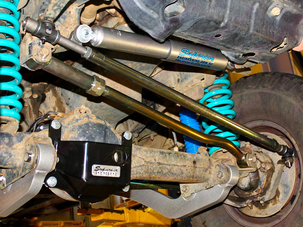 Superior Draglink, Panhard Rod, Coils, Damper and Diff Guard full front setup