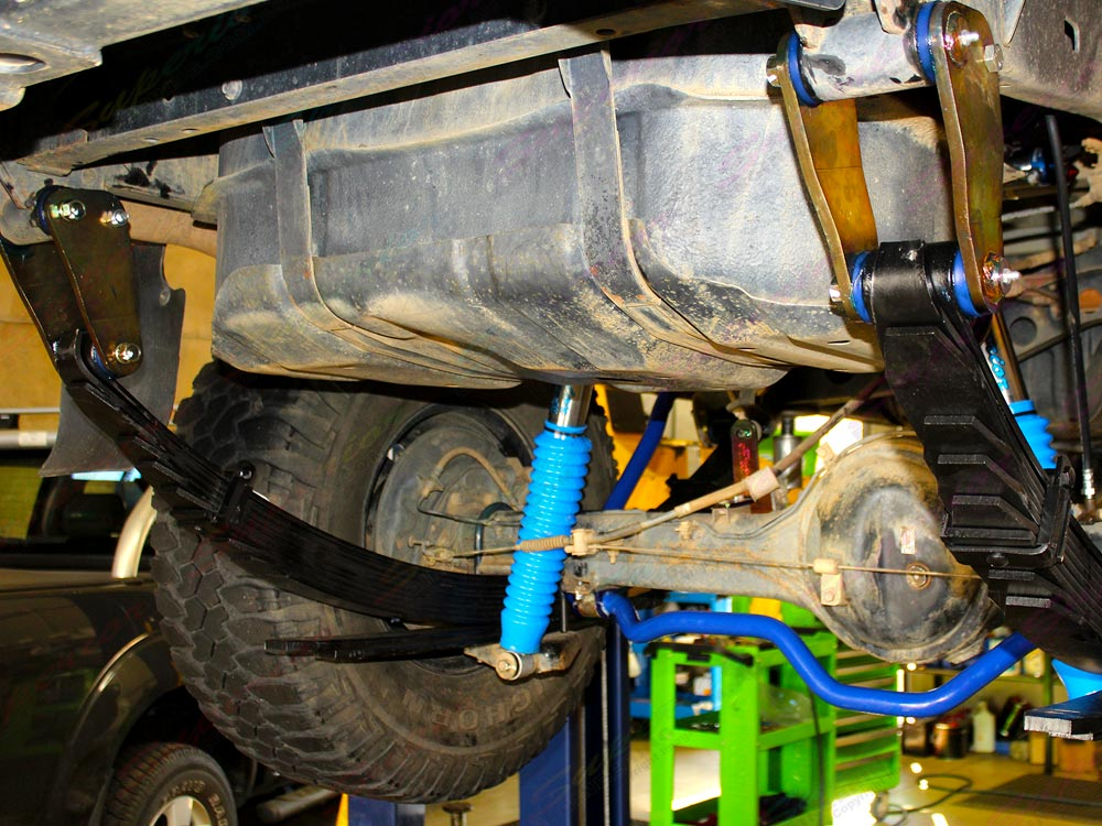 Fitted Ironman 4x4 Rear Leaf Springs, Shackles and Swaybar