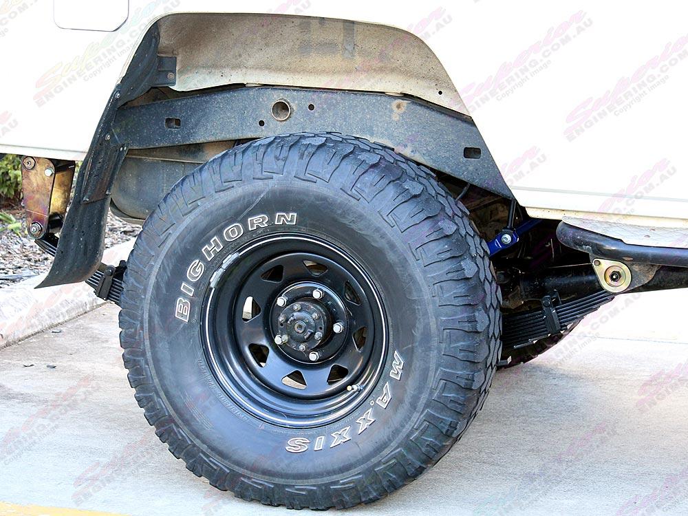 Rear driver side wheel arch setup